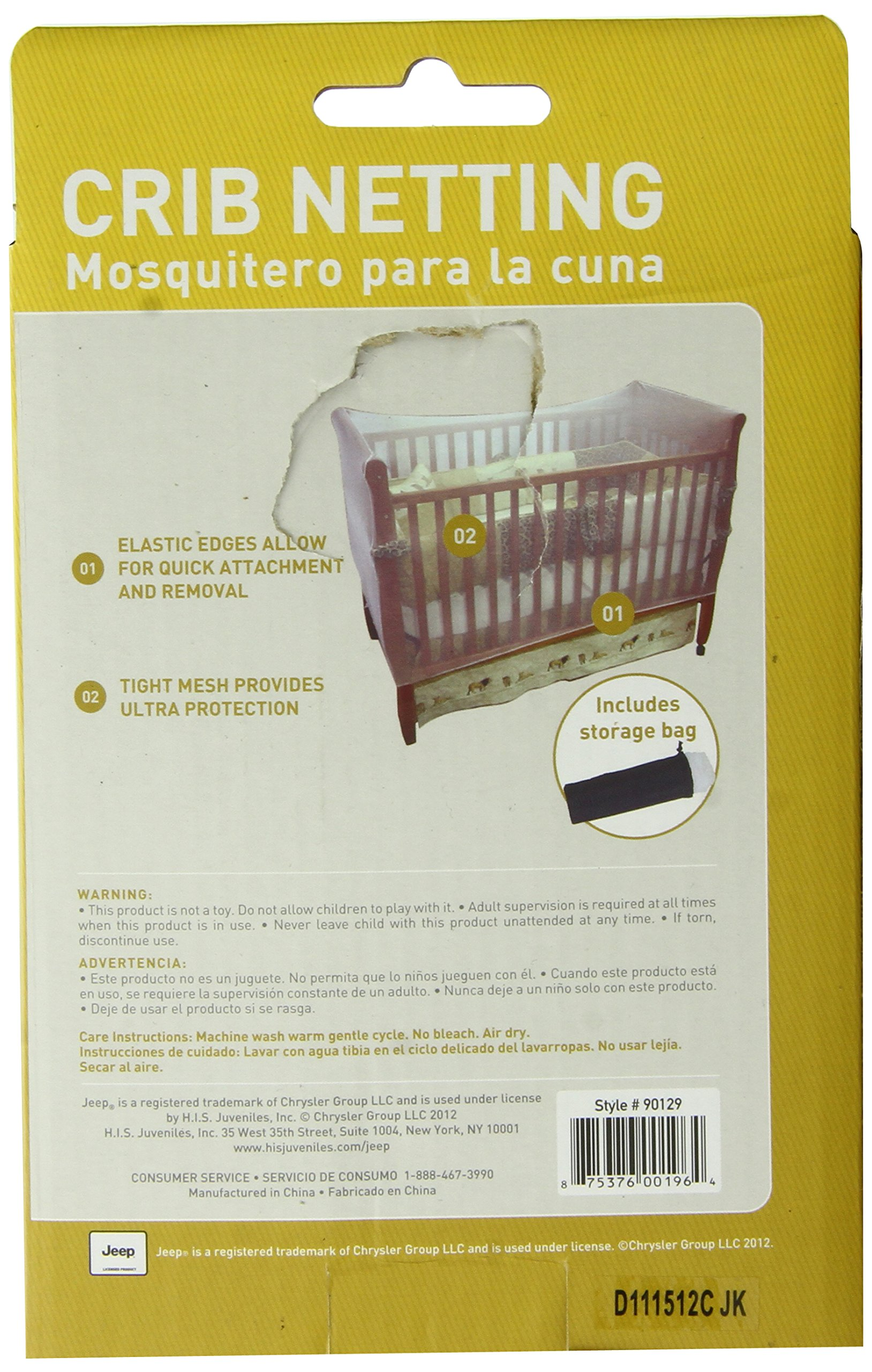 Jeep Crib Universal Size Crib Mosquito Net, White by Jeep (Image #2)