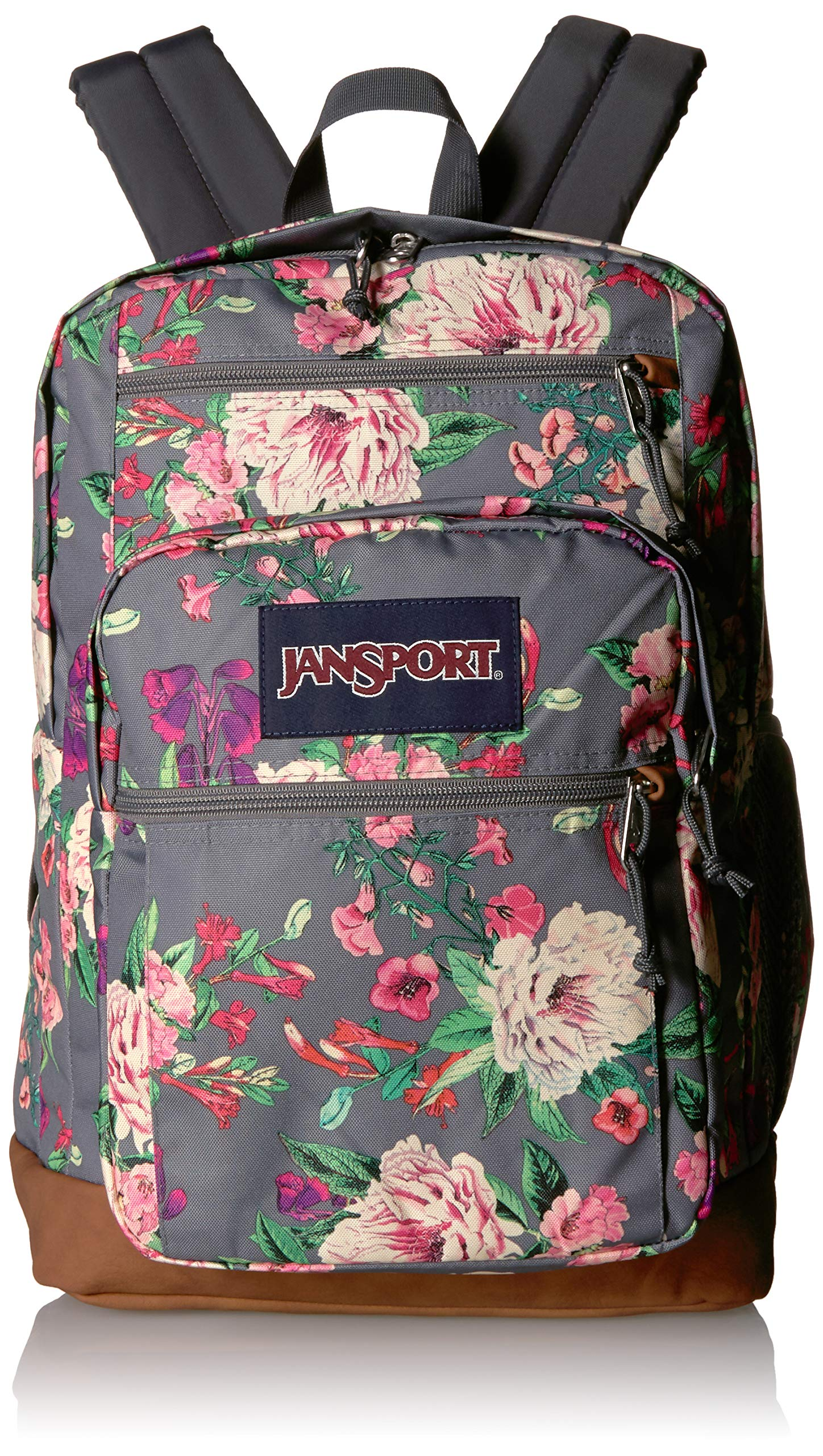 JanSport Cool Student 15-inch Laptop Backpack - School Bag, Grey Bouquet by JanSport