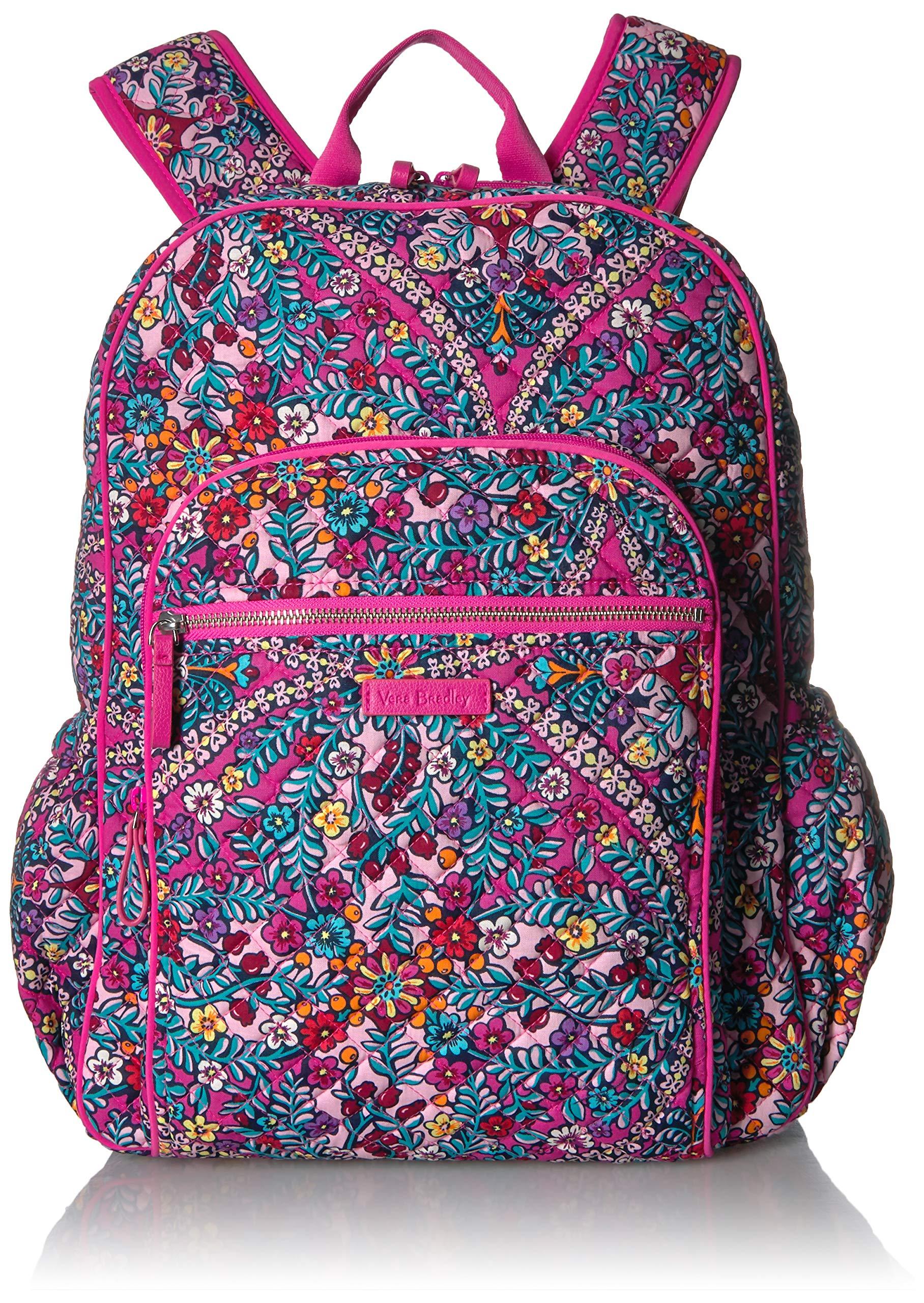 Vera Bradley Iconic Campus Backpack, Signature Cotton, Kaleidoscope