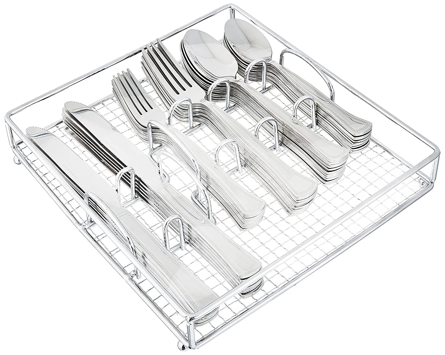Gibson Home 109535.61 Grand Abby 61 Piece Stainless Steel Flatware Set