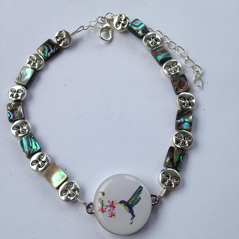 Par 4 Collection Ball Marker Ankle Bracelet - Abalone & Sunshine   B06XTXXR6B