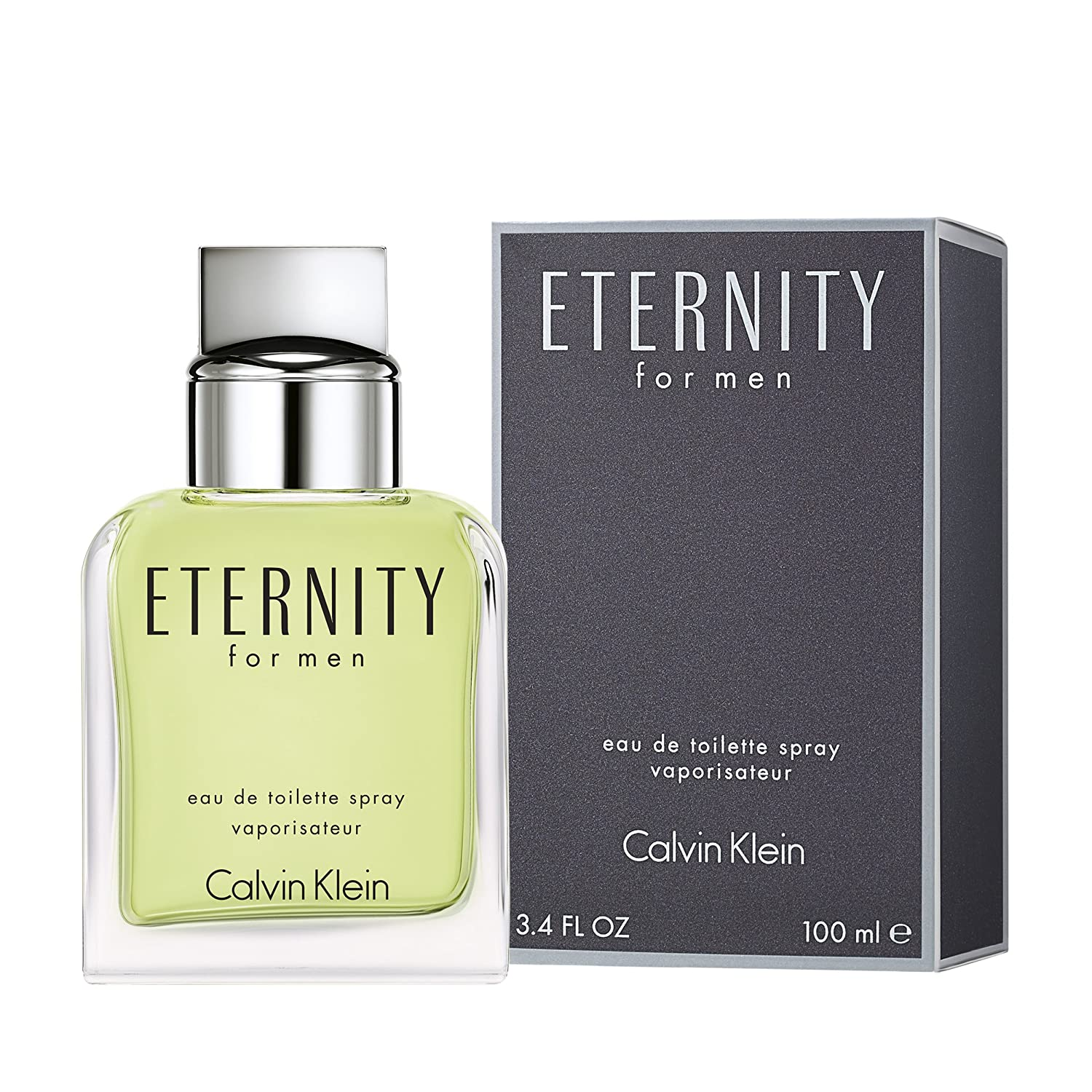 02fb3775a8ddef Calvin Klein ETERNITY for Men Eau de Toilette, 3.4 Fl Oz