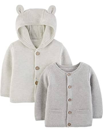 BLUES BABY Girls Cropped Cardigan 100/% Cotton Long Sleeve Knitted Clothes 1-12 Months