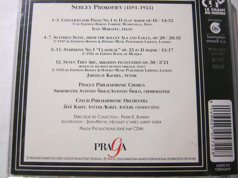 Sergei Prokofiev, Karel Ancerl, Czech Philharmonic Orchestra, Ivan Moravec - Prokofiev: Piano Concerto No. 1 / Scythian Suite - Amazon.com Music