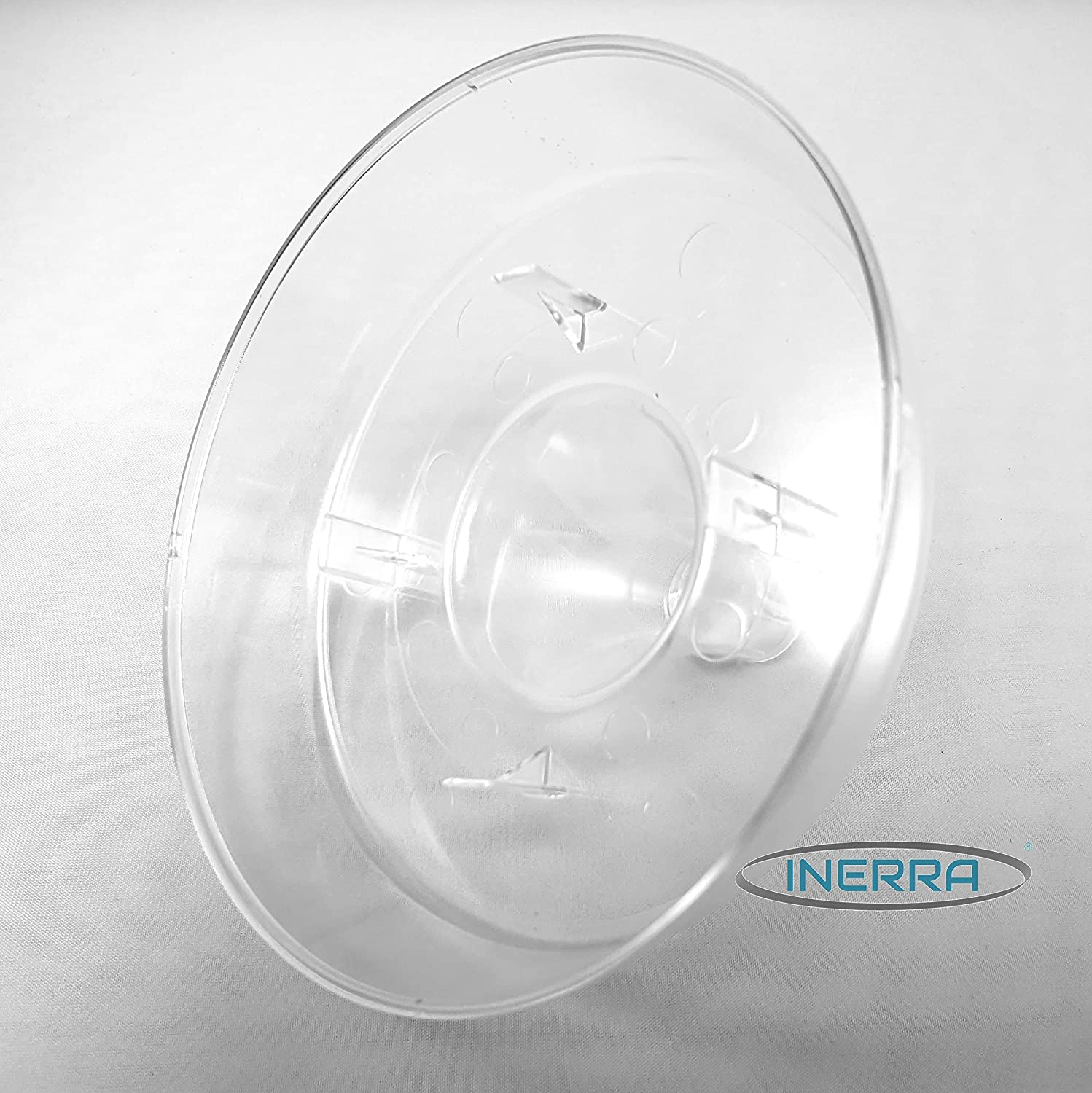 INERRA Compote Bowls Pack of 3 Clear Round Plastic Florist Dish for Foam