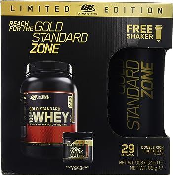 Optimum Nutrition Gold Standard Zone - Paquete para Antes y Después del Entrenamiento con Oferta de Shaker - 1.2 kg