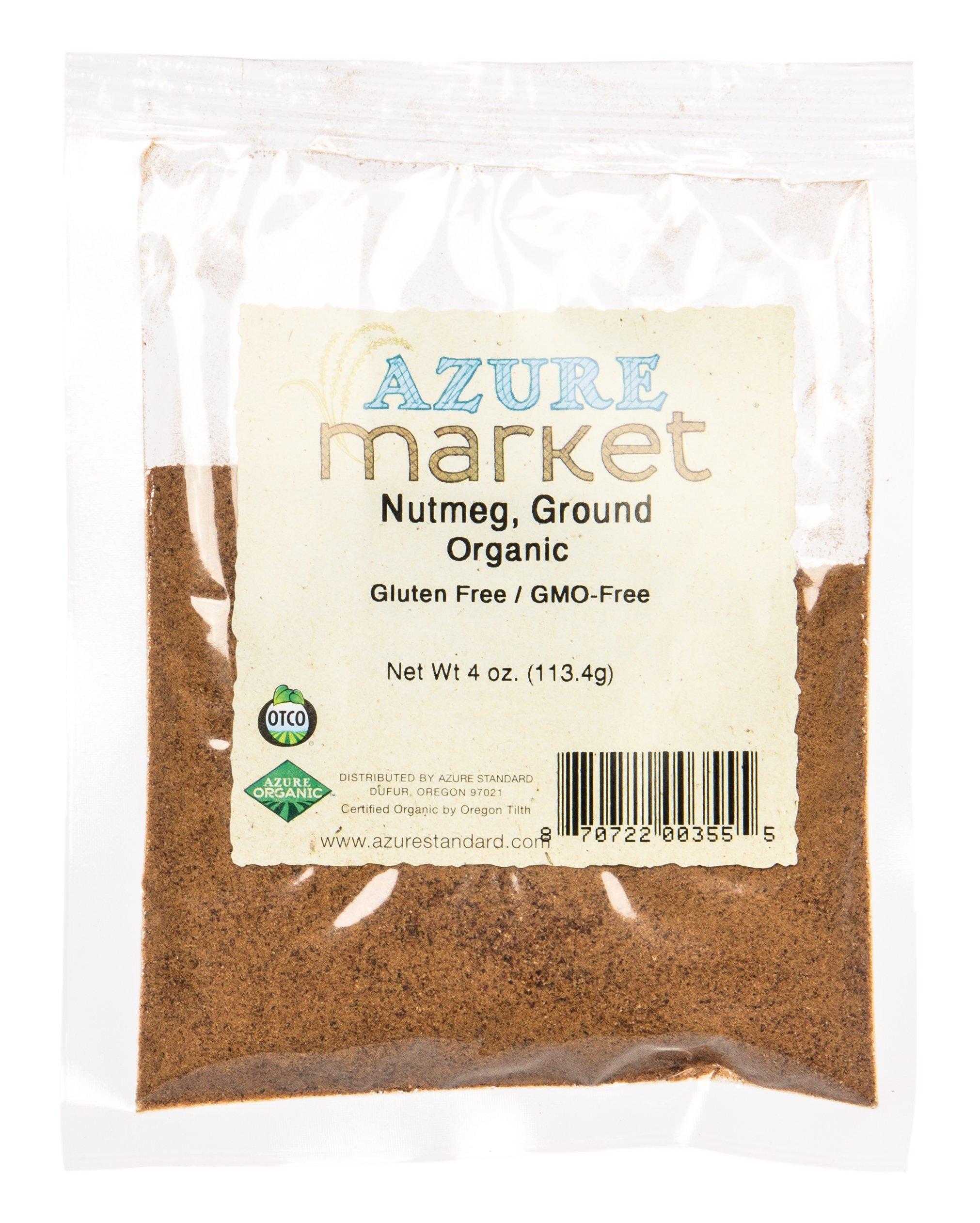 Azure Market Organics Nutmeg, Ground, Organic - 4 oz
