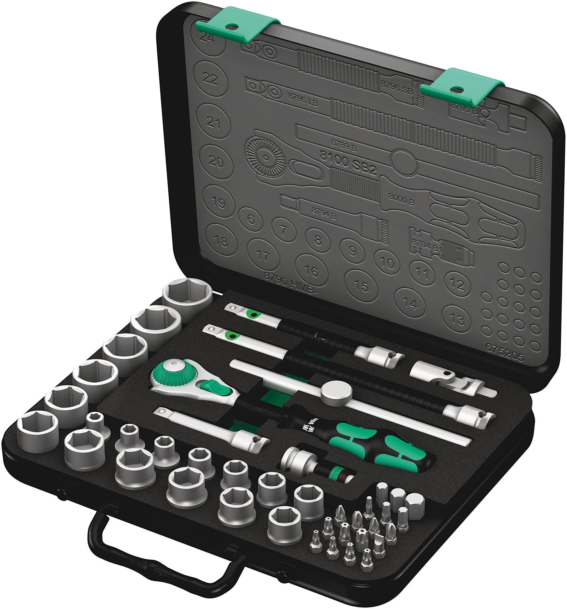 Wera 8100 SB 2 Zyklop 3/8'' Metric Ratchet Set ( Piece of 43) by Wera