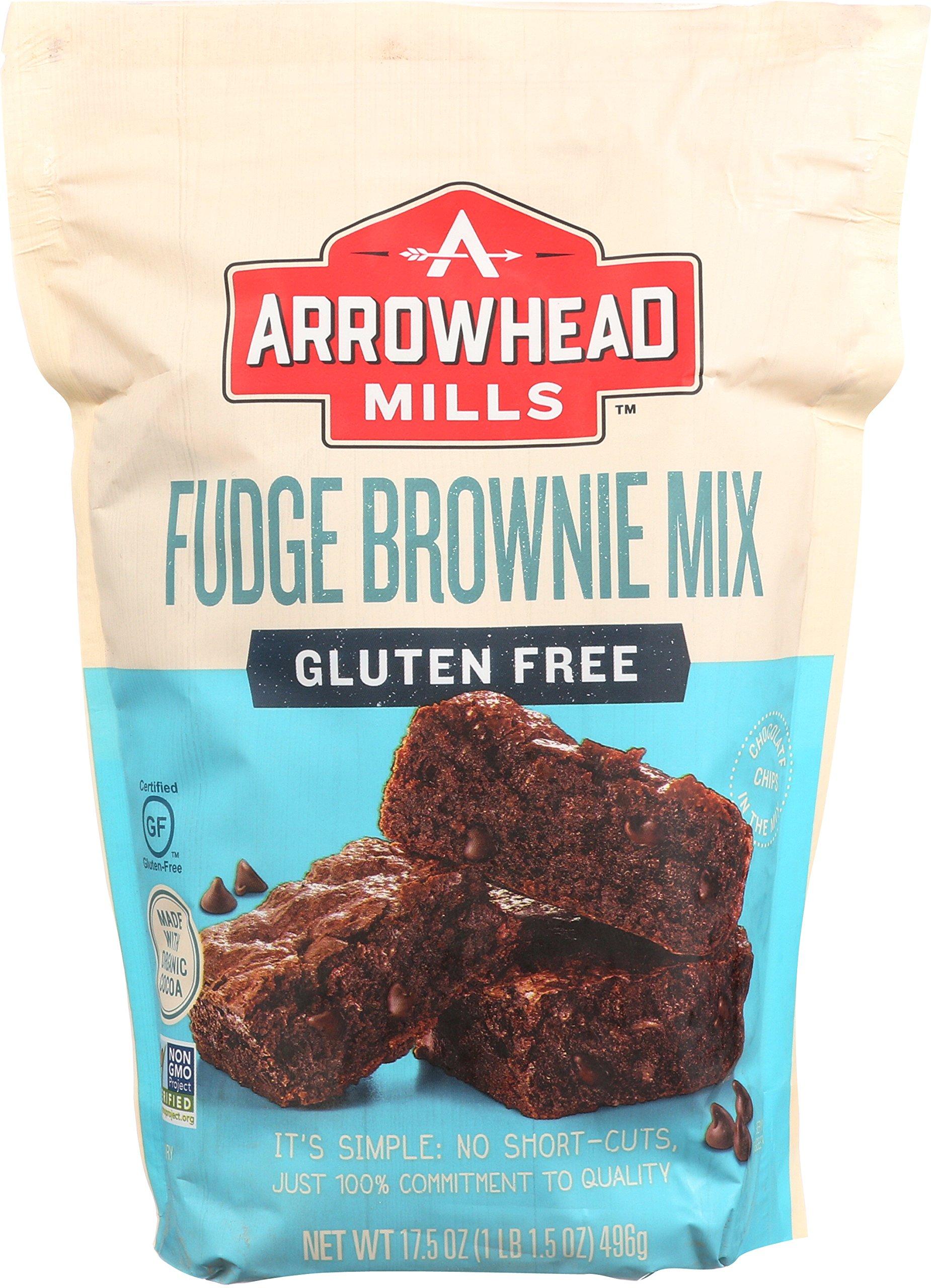 Arrowhead Mills Gluten-Free Fudge Brownie Mix, 17.5 oz. (Pack of 6) by Arrowhead Mills