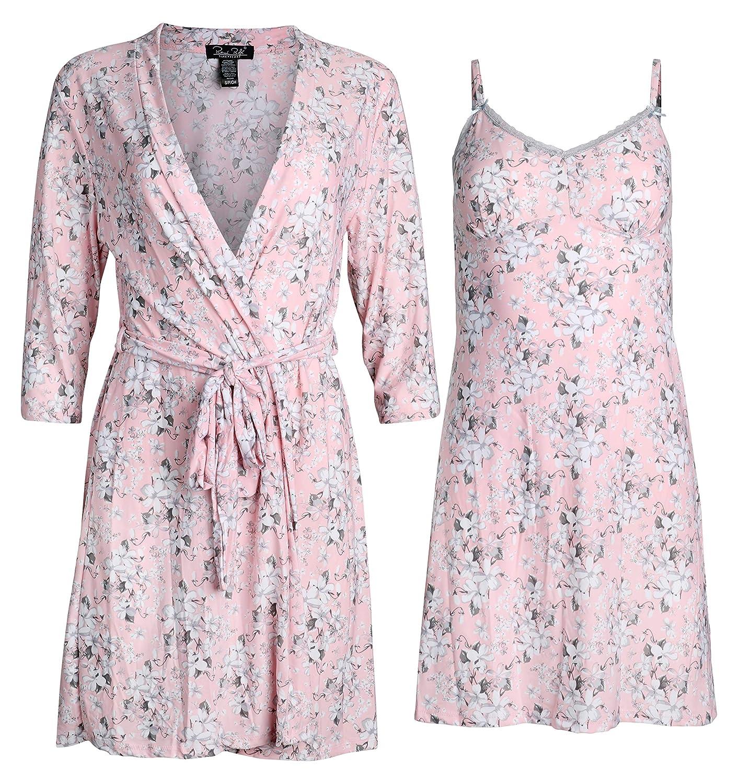 Amazon.com: Rene Rofe Sleepwear - Conjunto de bata y camisa ...