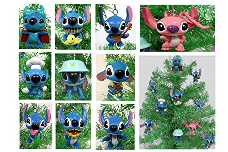 lilo and stitch mini christmas tree ornament set 25 plastic shatterproof ornaments - Mini Christmas Tree Ornaments
