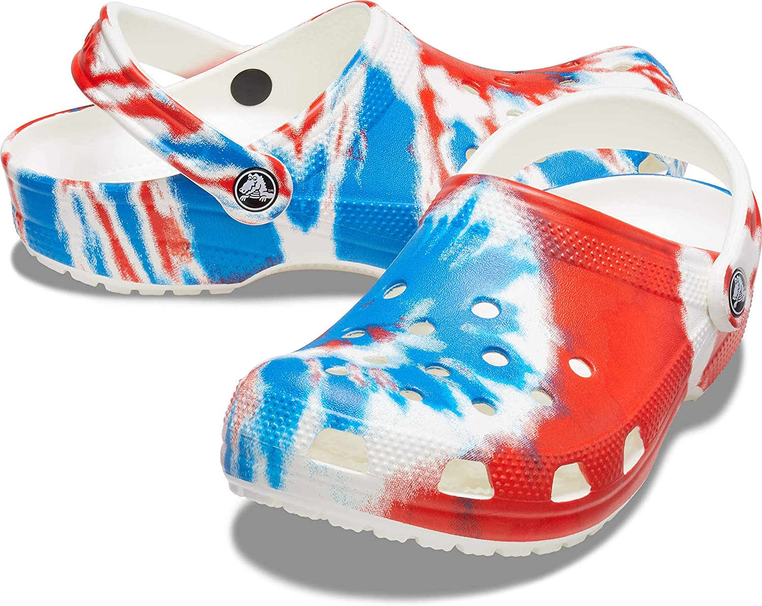 Crocs Mens and Womens Classic Tie Dye Clog Comfortable Slip on Casual Water Shoe
