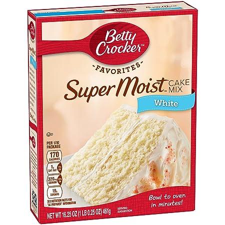 American Betty Crocker Supermoist White Cake Mix 461g Box