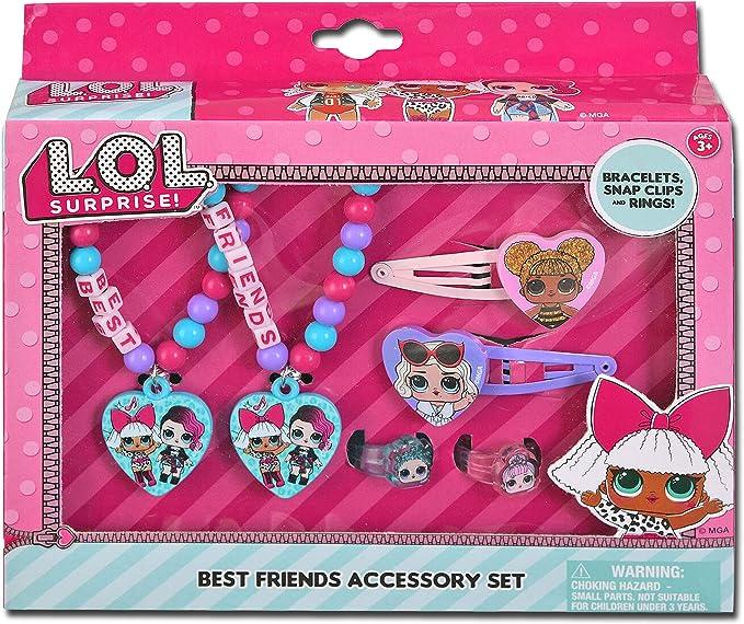 Amazon.com: UPD L.O.L Surprise! Best Friends Accessory Set- Bracelets, Snap Clips & Rings LOL, Medium, Multicolor: Toys & Games