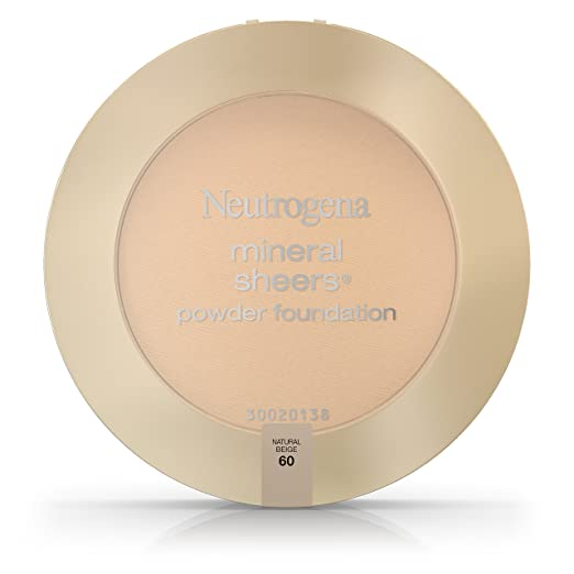 Neutrogena Mineral Sheers Compact Spf 20, Natural Beige 60, .34 Oz. (Pack of 2)