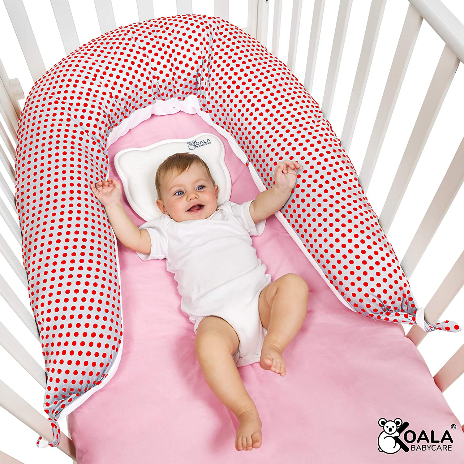 Right Support of Mother and Child Body Reducer and Crib Bumper Cradle KHUGS Koala Babycare/® Nursing V Pillow for Sleeping and Breastfeeding Maternity and Pregnancy Pil-lows with Retractable Zip