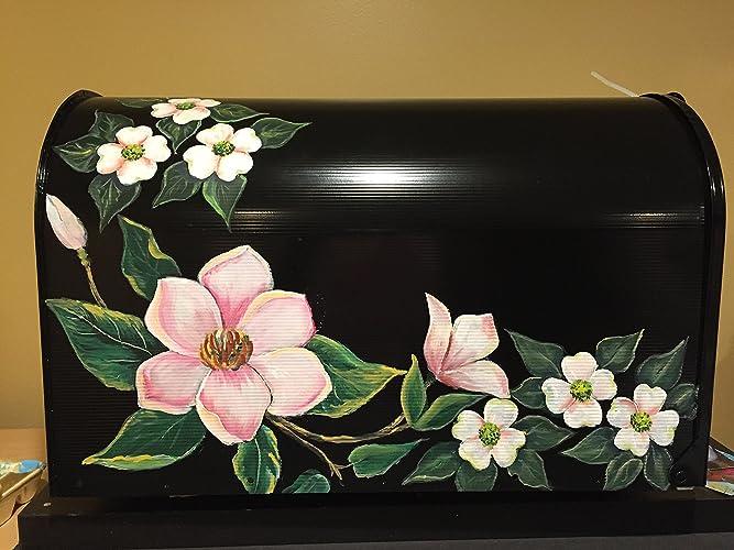 painted mailbox designs. Hand Painted Mailbox Floral Design\u0026quot;Magnolia\u0026quot;, Designs