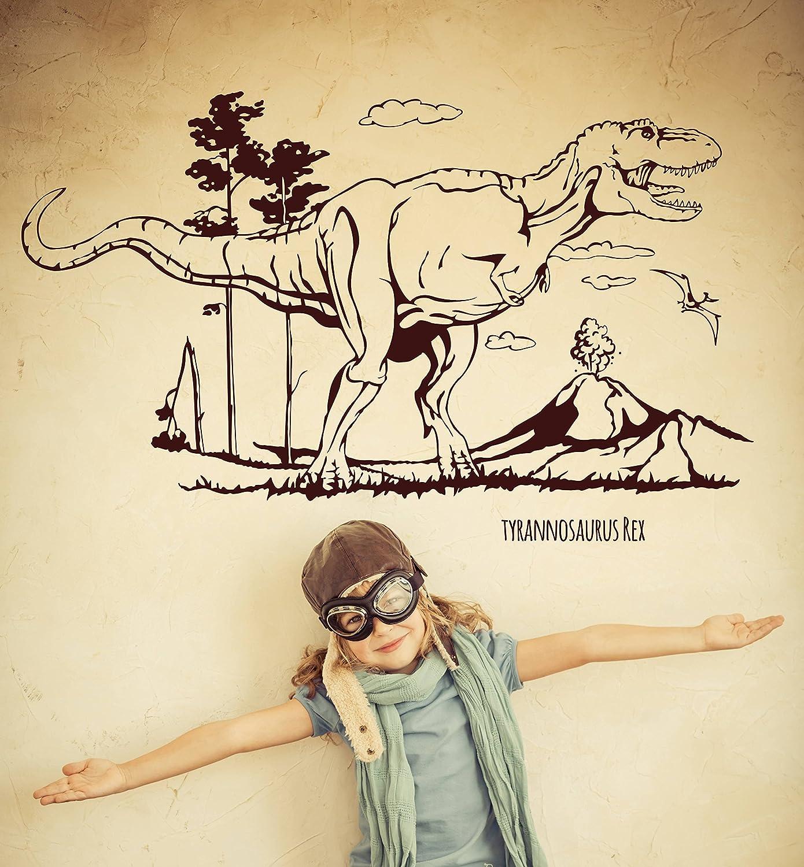 Wandtattoo Wandaufkleber Wandaufkleber Wandaufkleber Dino Saurier Dinosaurier T-Rex Tyrannosaurus Rex M1594 - ausgewählte Farbe  Weiß - ausgewählte Größe  L - 120cm breit x 73cm hoch B0127AFAA0 Wandtattoos & Wandbilder 9c47ea