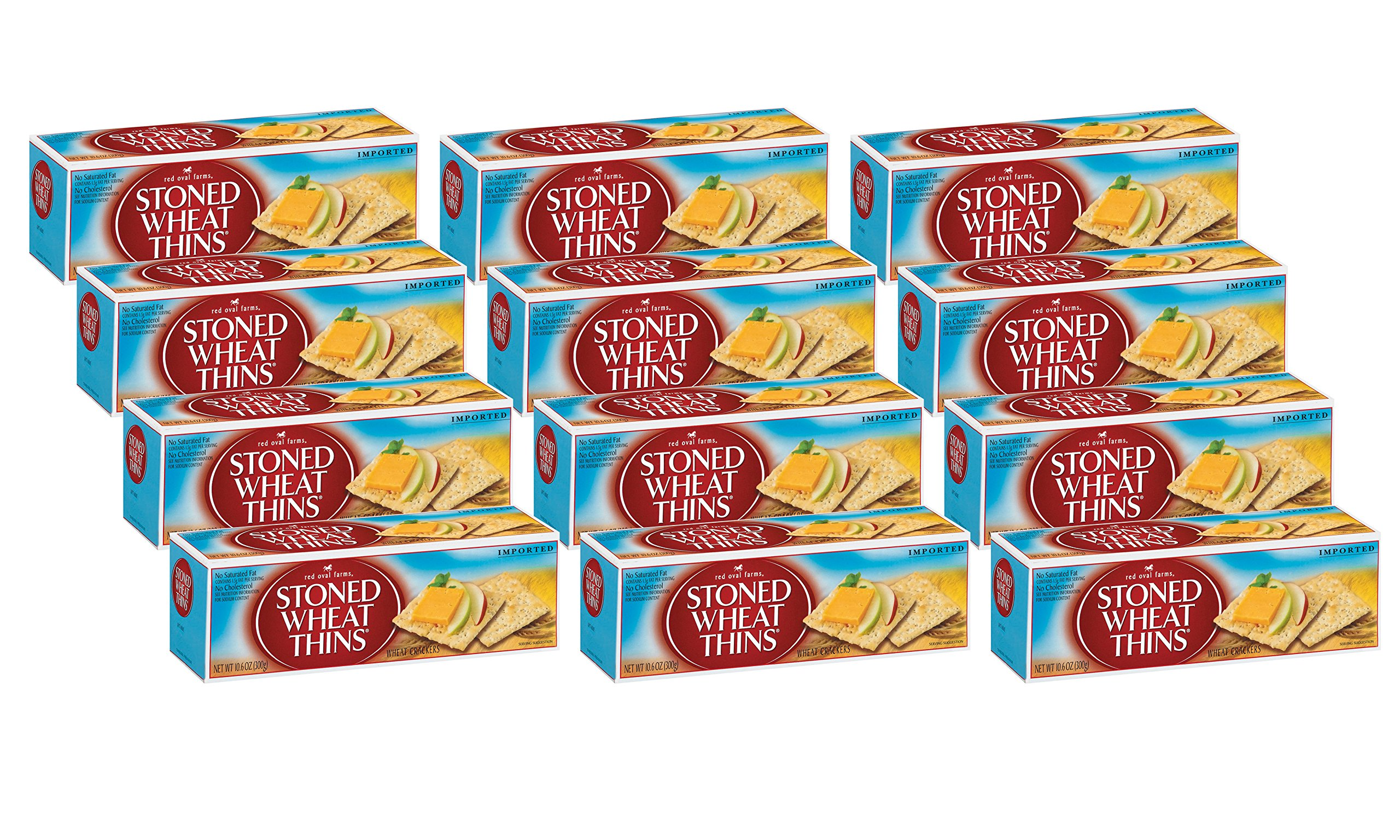 Red Oval Farms Stoned Wheat Thin Crackers, 10.6 Ounce (Pack of 12) by Wheat Thins (Image #2)