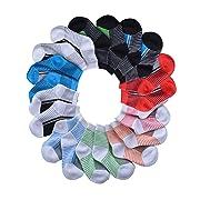 BARE HUGS Infant Boys All Weather No Show Socks - 10 Pack - Black Stripe/Dark Gray Stripe - 6-12 Months