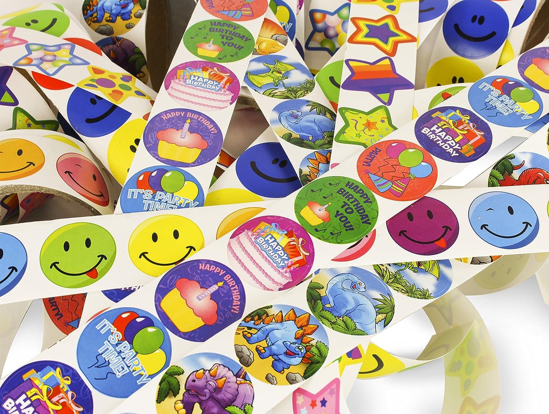 Play Kreative Super Sticker Assortment 10 Rolls TM 1000 Stickers