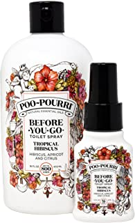 product image for Poo-Pourri Tropical Hibiscus 16-Ounce Refill Bottle and 1.4-Ounce Tropical Hibiscus
