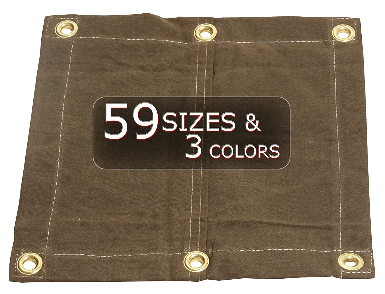 OD Green Water Mold and Mildew Resistant 8x10 18oz Heavy Duty Canvas Tarp with Grommets