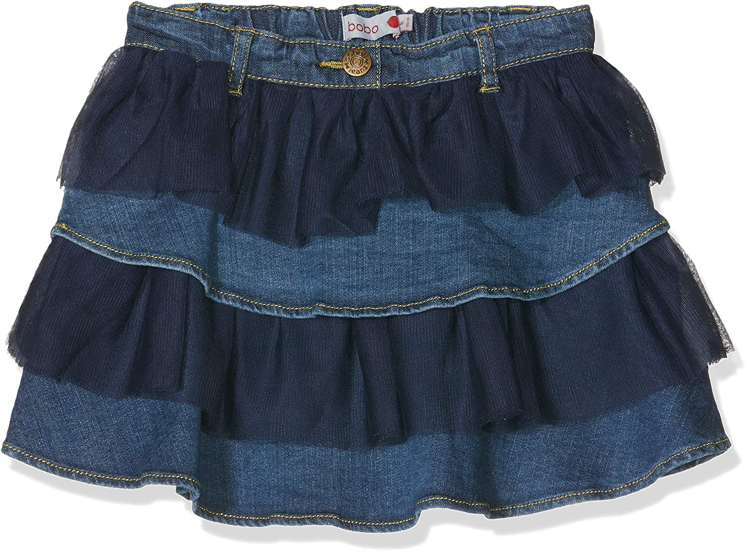 boboli Denim Ruffle Skirt For Girl Falda, Azul (Blue), 110 (Tamaño ...