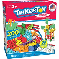 Tinkertoy 56578 30 Model 200 Piece Super Building Set - Preschool Learning Educational Toy for Girls and Boys 3+ (Amazon…