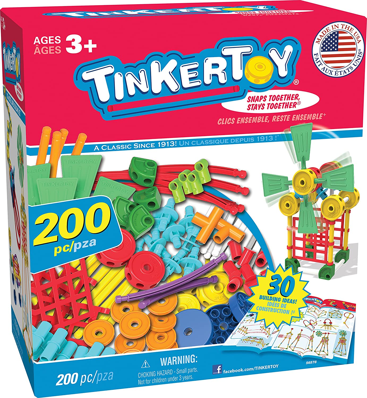 TINKERTOY 30 Model Super Building Set (200 Piece) K' NEX 56578