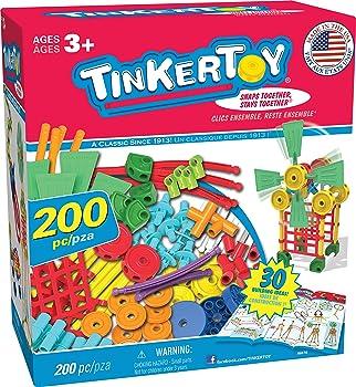 TINKERTOY 30 Model 200 Pieces Lego Set For Kids