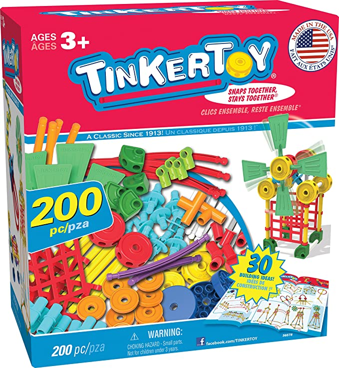 TINKERTOY 30 Model Super Building Set (200 Piece)
