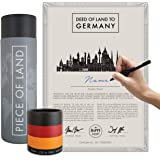 Piece of Land - Unique Gift from GERMANY – Sustainable, Unusual Gift for Family and Friends – Personalized Land Owner's Certi