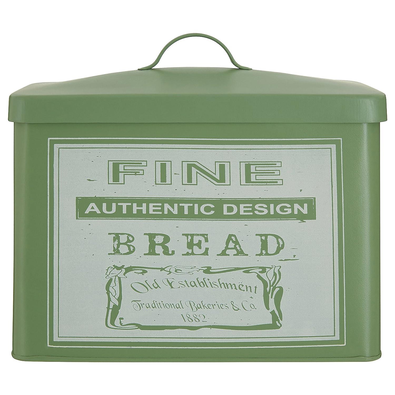 Premier Housewares Whitby Bread Bin, Metal, Green, 19 x 34 x 28 cm 0507728