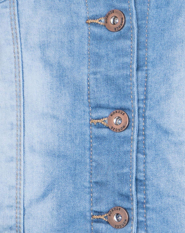 elasticizzata stile vintage NOROZE Giacca corta in denim da donna