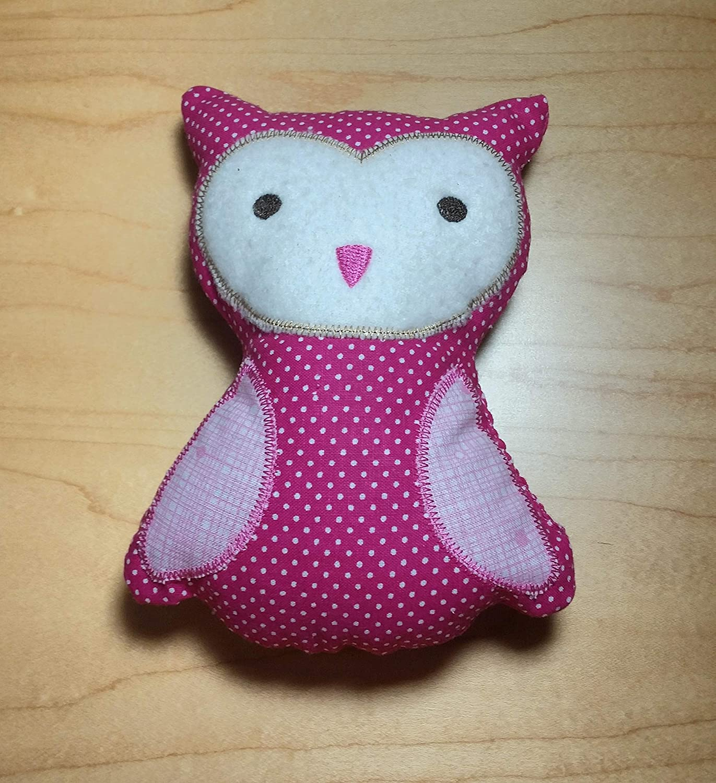 Owl Owl Burp Cloth Owl Toy Baby Shower Gift New Baby Gift Owl Stuffie Owl Bib Gift Set Owl Baby Girl Applique Owl Pink Owl
