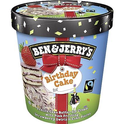 Ben Jerrys Birthday Cake Eis 500 Ml Tiefgefroren