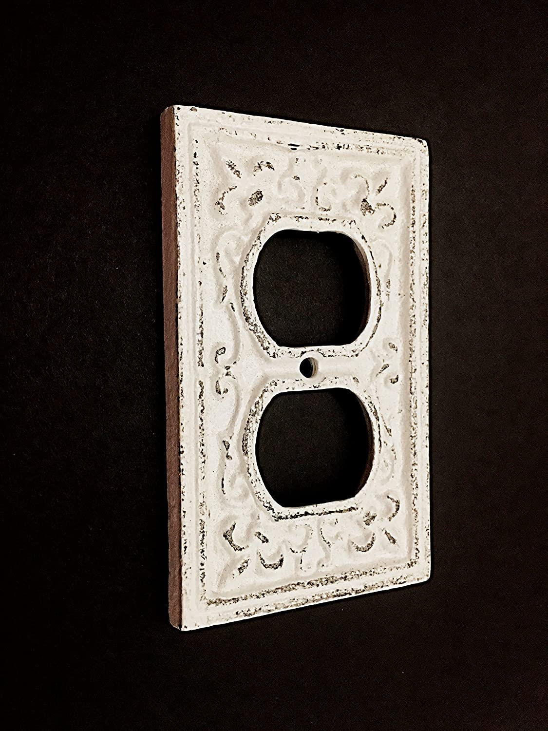 Cast Iron Decorative Electrical Outlet Plate, Plug In Cover, Shabby Chic Outlet Cover, Pick Color