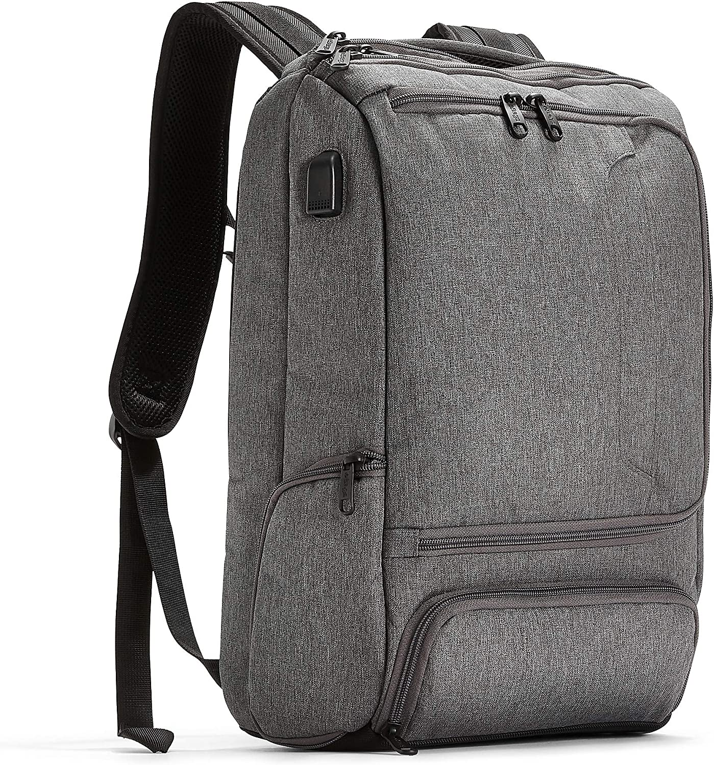 eBags Pro Slim USB Laptop Backpack (Heathered Graphite w/USB)