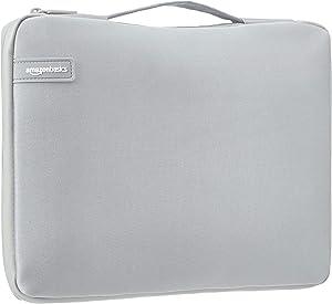 "AmazonBasics 13.3"" Professional Laptop Case Sleeve Bag (With Retractable Handle) - Grey"