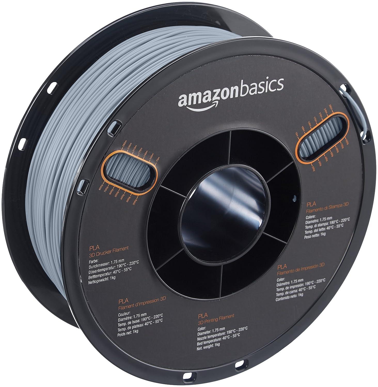 AmazonBasics - Filamento de PLA para impresora 3D, 1,75 mm, Gris ...