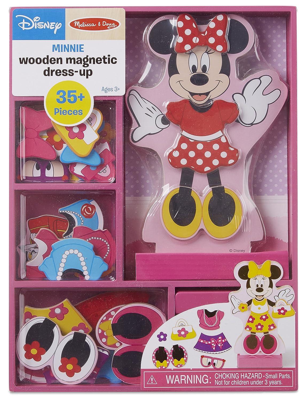 Melissa & Doug Disney Minnie Mouse Magnetic Dress-Up Wooden Doll Pretend Play Set (35+ pcs) 5786