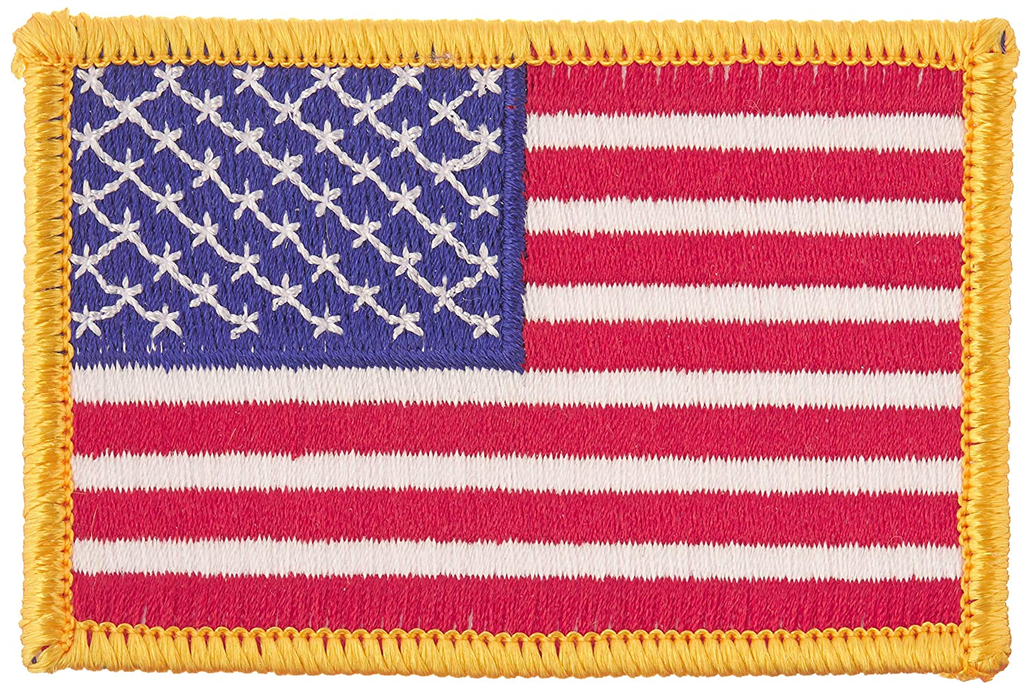 US Flag Store PTUSA American Flag Red Standard Patch Yellow Blue White