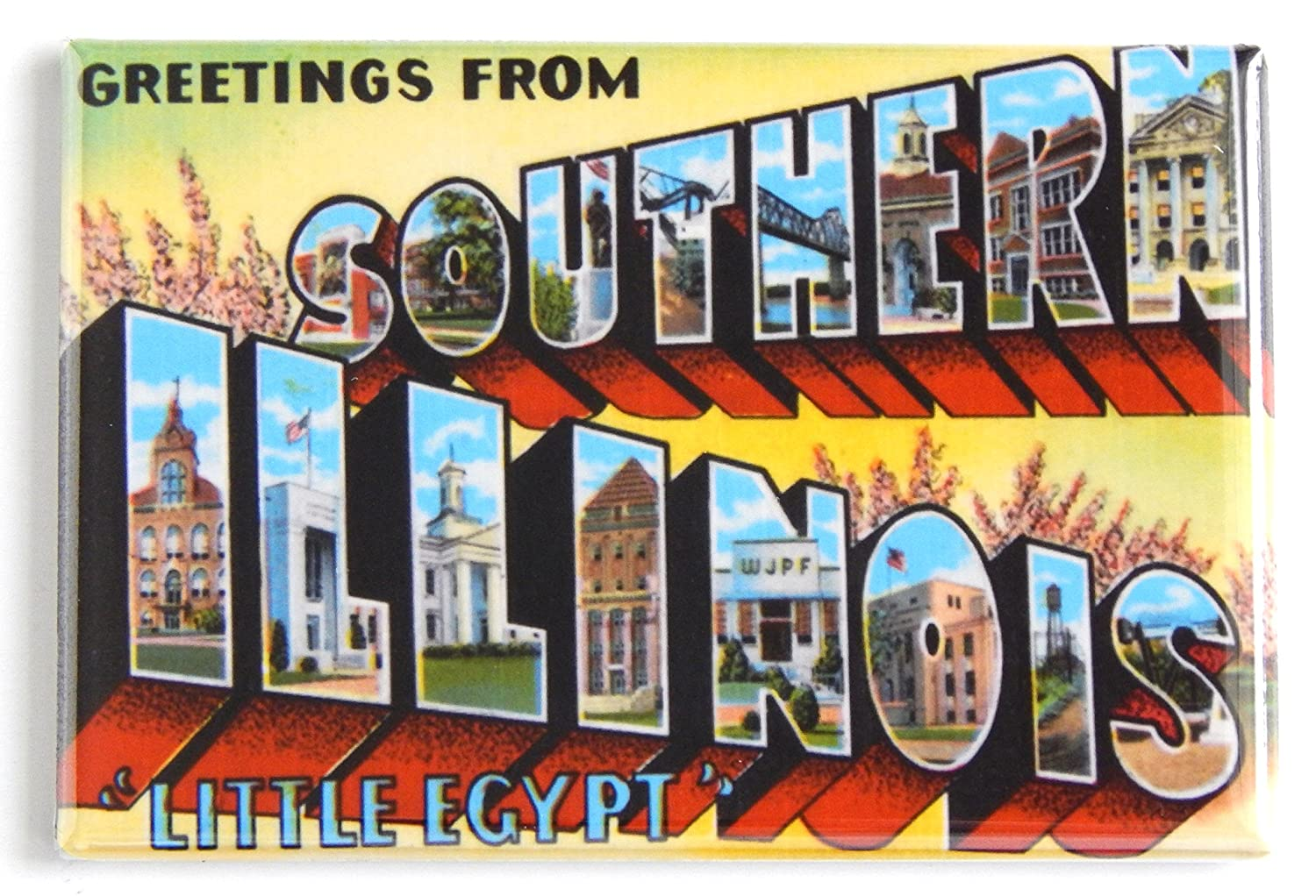 Amazon Greetings From Southern Illinois Fridge Magnet 2 X 3