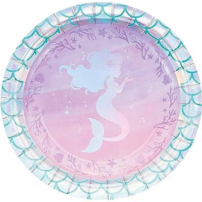 Iridescent Mermaid Party Dessert Plates, 24 ct: Toys & Games