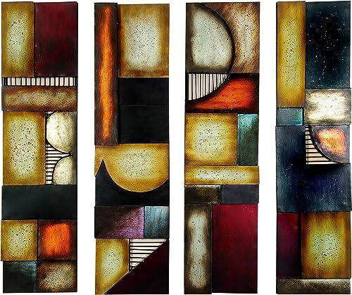 Benzara 79 99144 Metal Wall Plaque Unique Wall Decor