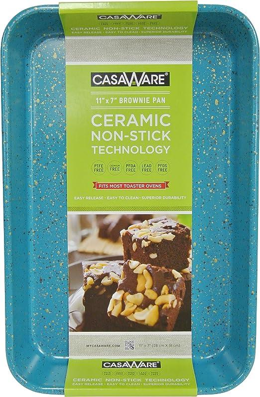 Blue Granite casaWare Toaster Oven Baking Pan 7 x 11-inch Ceramic Coated Non-Stick