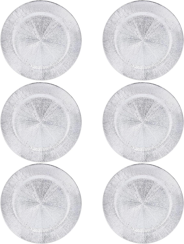 Assiettes de pr/ésentation en plastique Blast id/éales pour No/ël 33 cm  Or