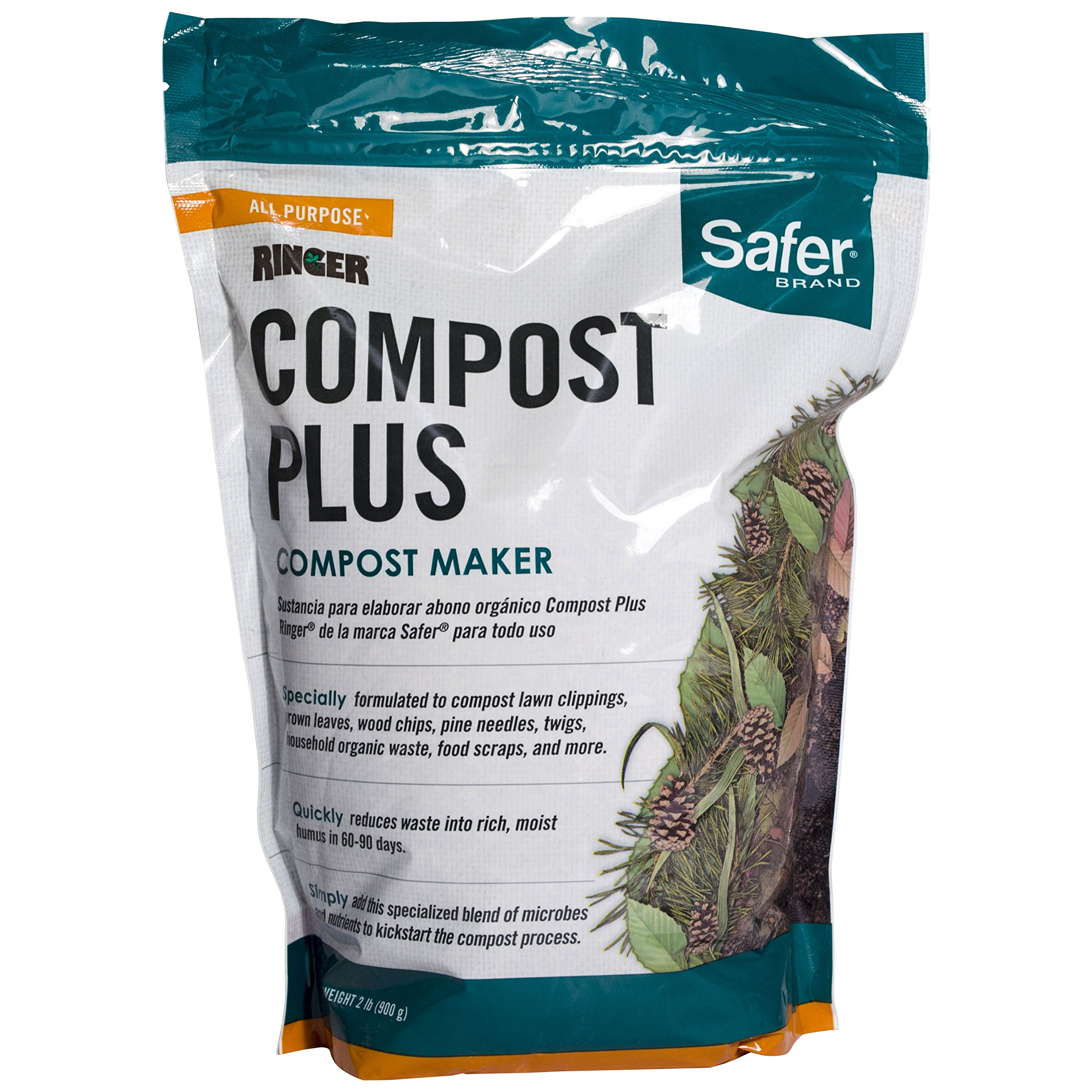 Safer 3050-6 Ringer Plus-Compost Starter Kit Brand, 2 lb, White