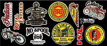 Vintage Motor Bike Vinyl Sticker Pack Crafts Collectibles